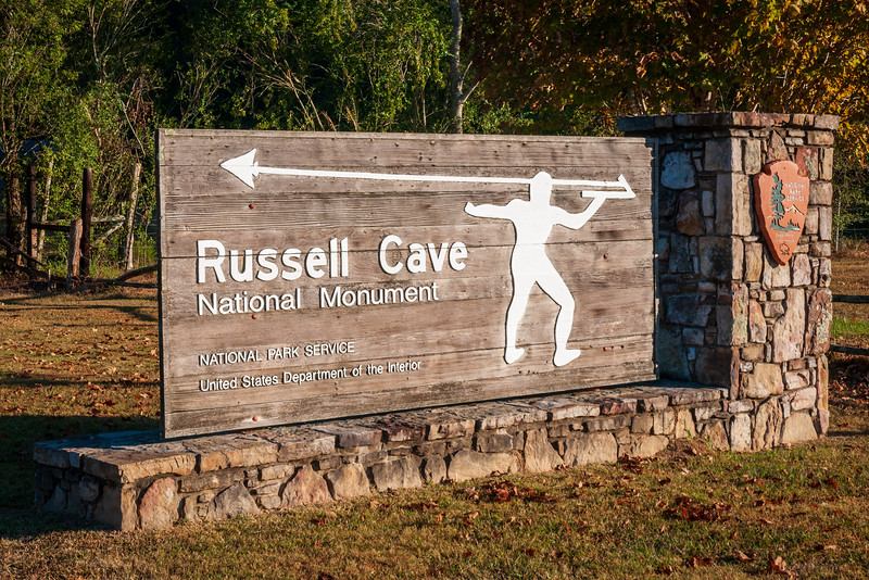 NPS Welcome Sign at Russell Cave National Monument