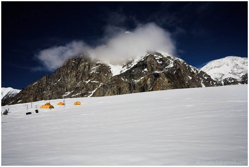 McKinley base camp. We chartered a de Havilland Otter ski plane in order to get this series.