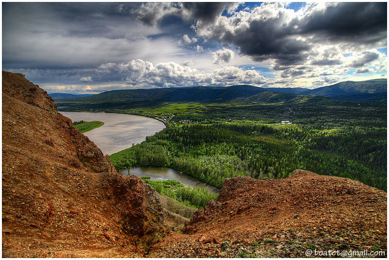 A view of Eagle, Alaska from the bluff.