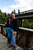 Craig & Lisa in Denali Park.  We hiked 2 miles back from the Sled dog show and this bridge was one of many that we crossed