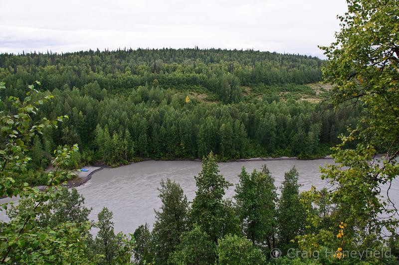 Large river that ran next to the Princess Denali WIlderness Resort we stayed at.