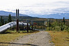 Alaska Pipeline that transverses over 800 miles through Alaska