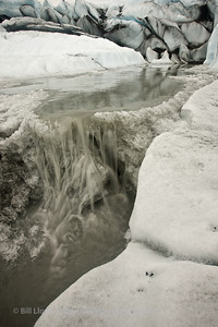Waterfall on Matanuska Glacier