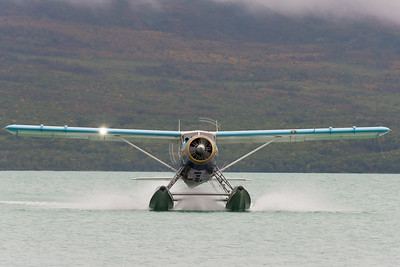 From there, we flew (three flights, the last of which was another float plane) to Brooks Camp in Katmai National Park.