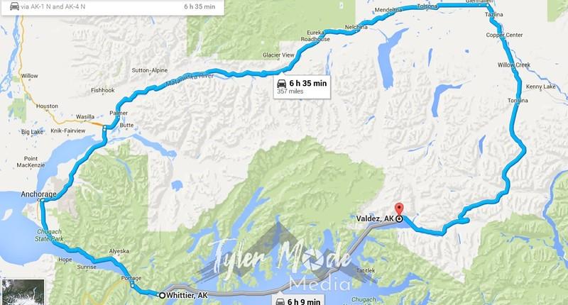 Whittier to Valdez
