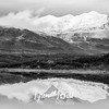1484  G Snowy Mountain Reflection BW