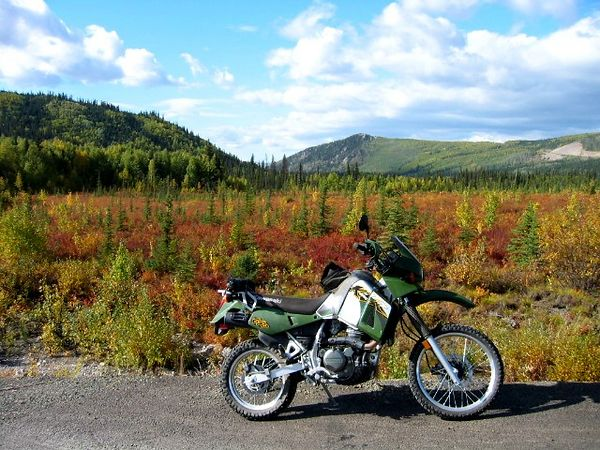 Elliot colors and the KLR/Travel Gnome.