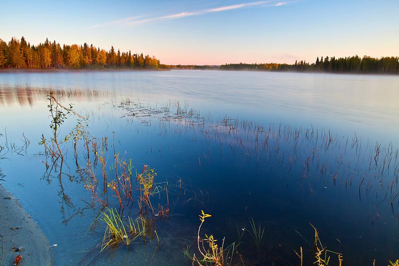 Alaska, Fairbanks, Chena Lake, Sunrise, Landscape, 阿拉斯加, 费尔班克斯, 日出