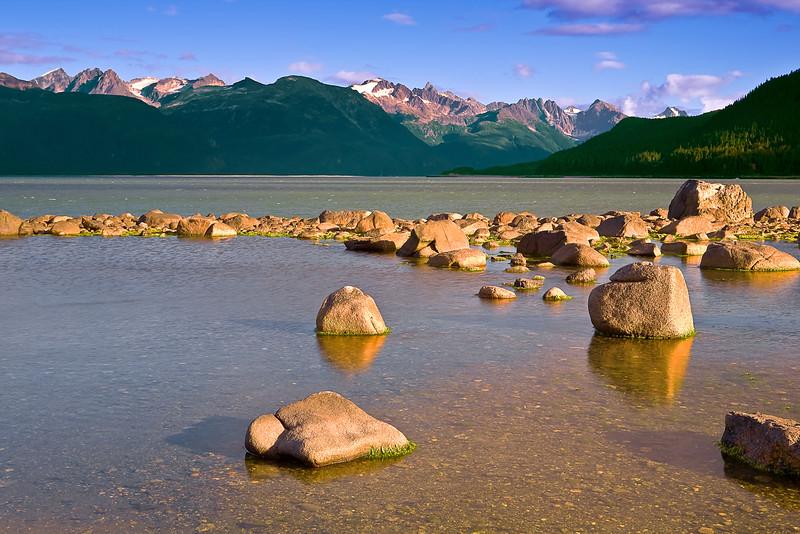Alaska, Haines, Lutak Inlet, Rock, Landscape, Sunset,  阿拉斯加, 海恩斯, 日落