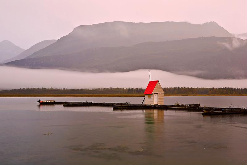 Alaska, Valdez, Robe Lake, Dusk, 阿拉斯加, 瓦尔迪兹, 黄昏
