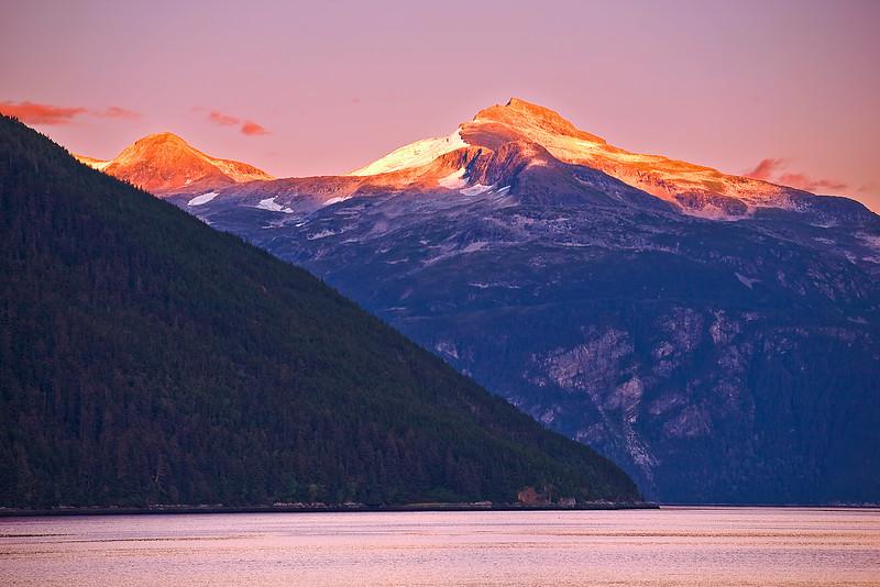 Alaska, Haines, Lutak Inlet, Landscape, Sunset, 阿拉斯加, 海恩斯, 日落