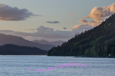 Approaching the Wrangell Narrows at Sunset.