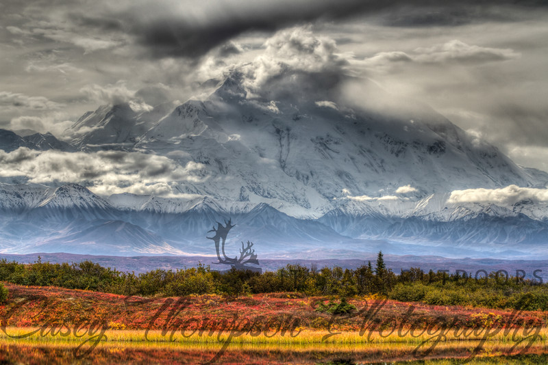 Denali from Reflection Pond - HDR
