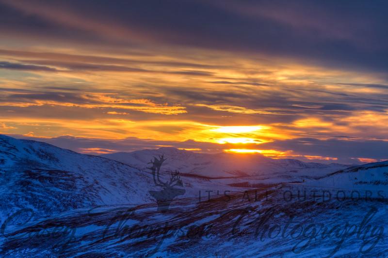 """Eagle Summit Sunset"" - 2:31pm January 5, 2013"