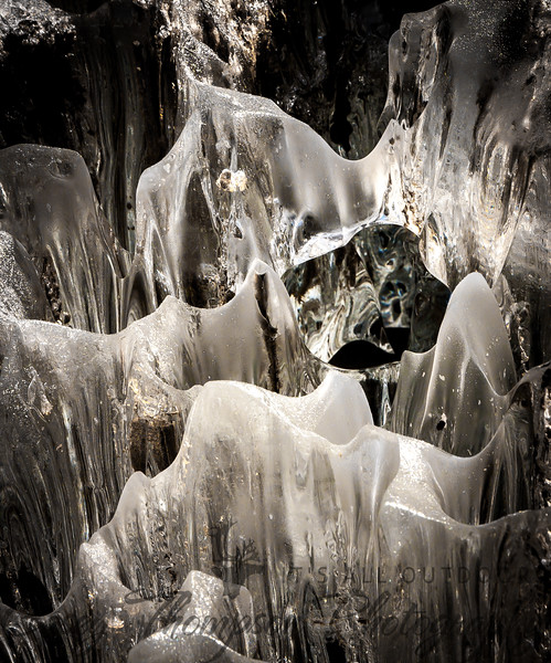 Ice Caves created during Break Up of 2012.