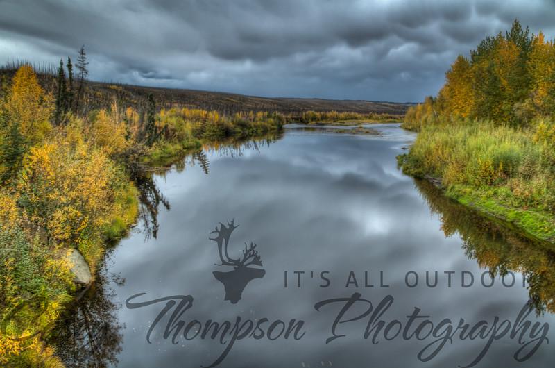 Hess Creek on the Dalton Highway north of Fairbanks, AK. HDR