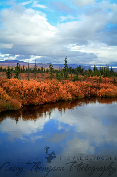 Kanuti River on the Dalton Highway between Fairbanks, AK and the Arctic Circle. HDR