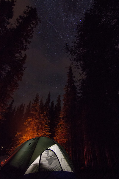 Tent Camping in Denali National Park under the Milky Way - September 12, 2013