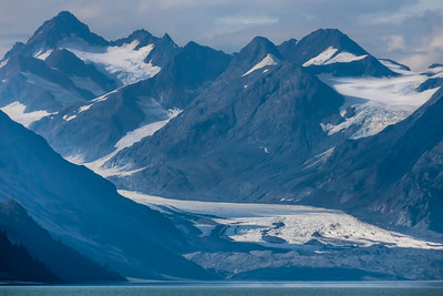 Looking towards Carroll Glacier, Glacier Bay National Park, Alaska.