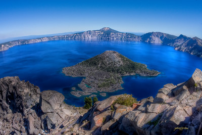 """Isle of the Mushroom King"" Crater Lake, Oregon"