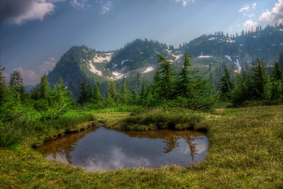 """Heart-Shaped Pond"", Park Butte, Mt. Baker Recreation Area, Sedro Woolley, WA"