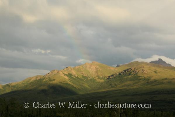 A faint rainbow, Denali National Park and Preserve