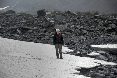 Anna on Byron Glacier remnant