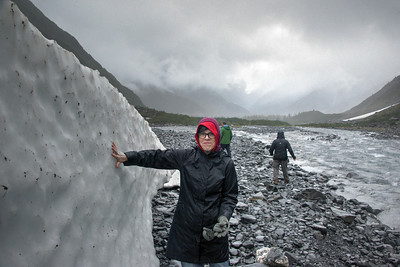 Jane feels Byron Glacier remnant