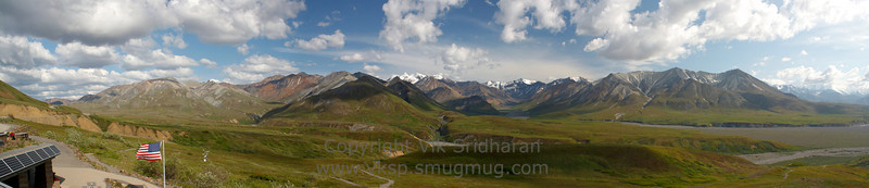 The vista from the Eielson Visitor Center - our shuttle bus' destination.