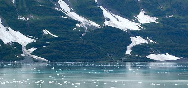 Small icebergs dot Disenchantment Bay