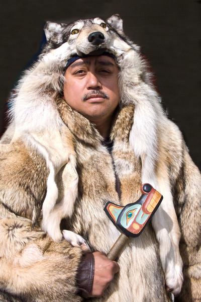 """Celebration"" , Native Parade, Juneau 2008 Tlingit, Haida, and Tsimshian tribal members"