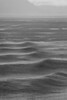 Strange water patterns as it rains....... B&W image