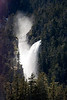 Powerful waterfall in Alaskas Inside passage