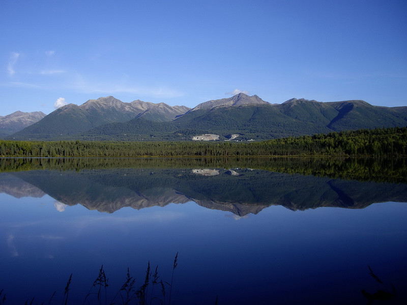 Beach Lake Reflection