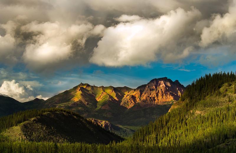Mountain peaks near Denali National Park