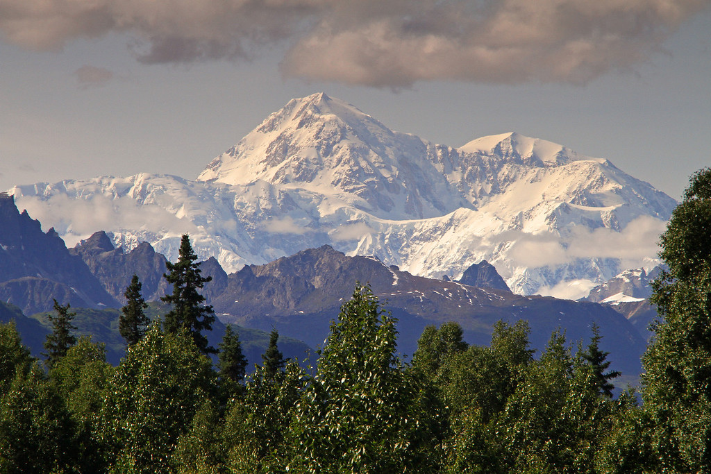 Denali as seen from the Alaska Veterans Memorial rest area on the Parks Highway.