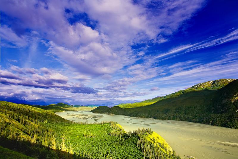 Alaska,  Wrangell-St Elias National Park Landscape, 阿拉斯加 风景