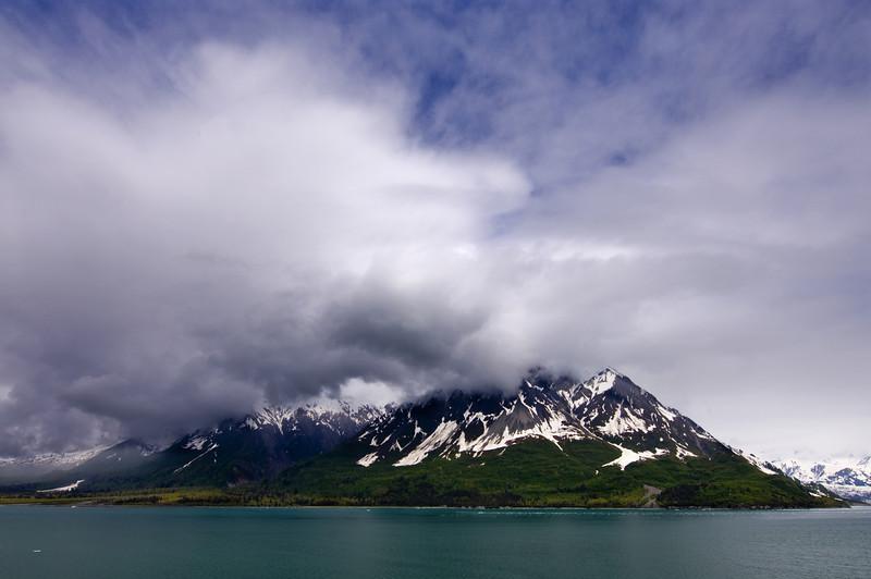Coastal Mountains near entrance to Hubbard Glacier
