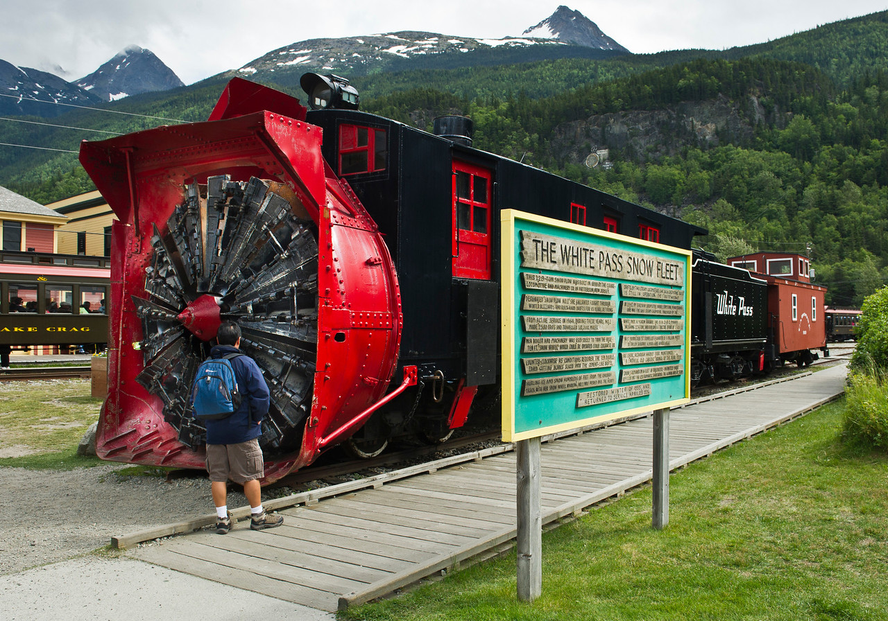 Steam powered rotary snow plow, White Pass and Yukon Railroad, Skagway, Alaska
