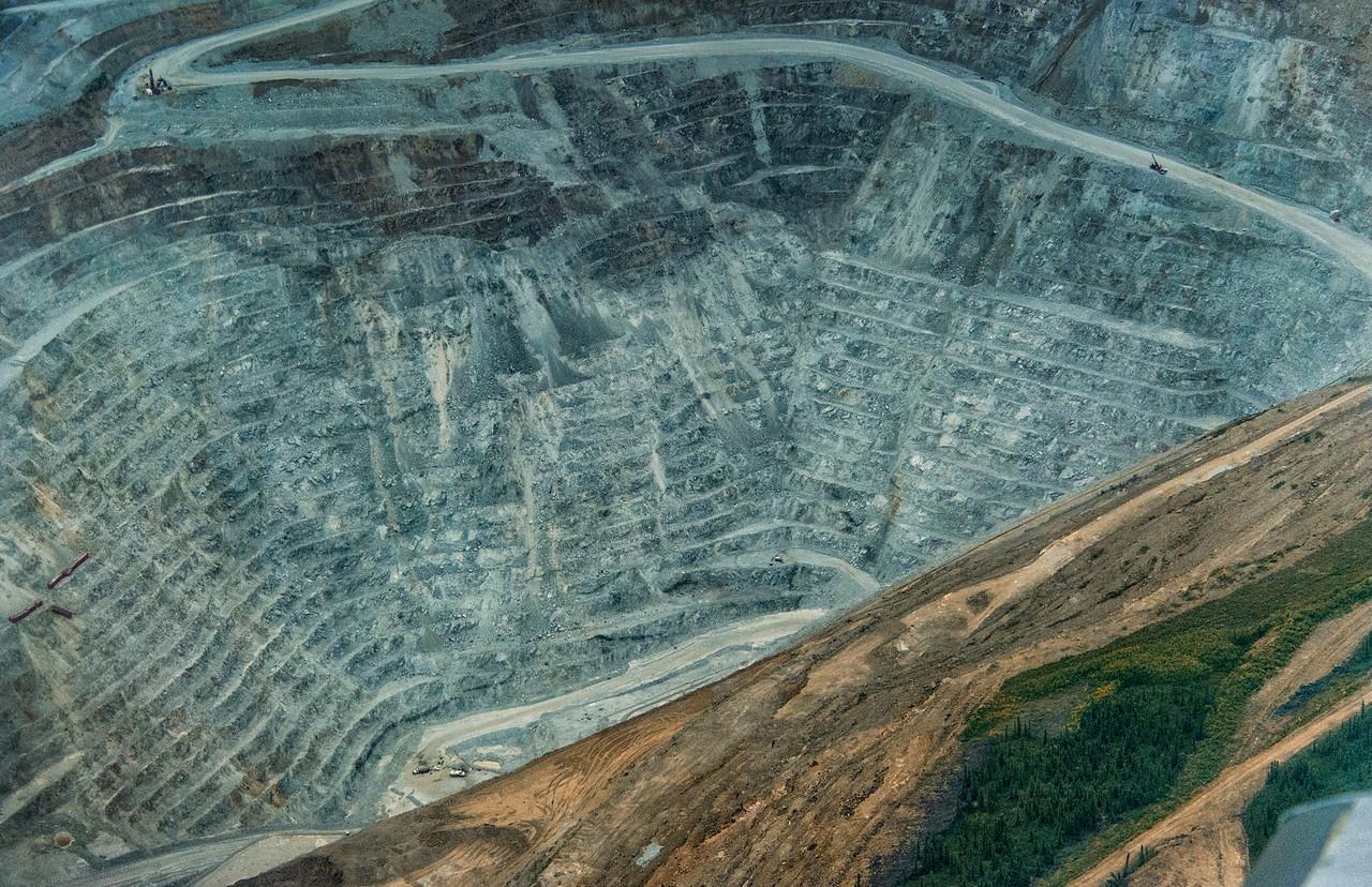 Fort Knox Gold Mine, in the Yukon-Tanana Uplands, Alaska