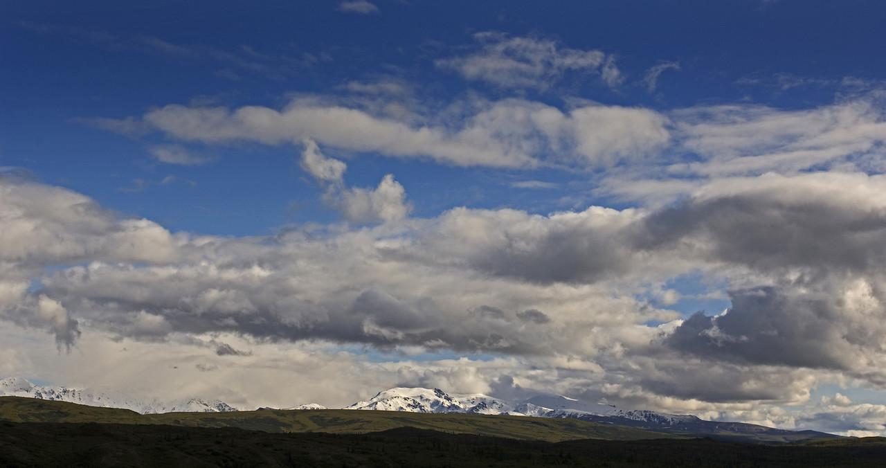 Wide shot of Alaska Range, near Delta Junction