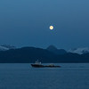 Moon rising over Homer