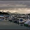 Valdez boat harbor, storm approaching