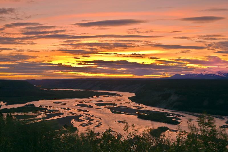 Alaska, Sunset, Wrangell-St Elias National Park Landscape, 阿拉斯加 风景