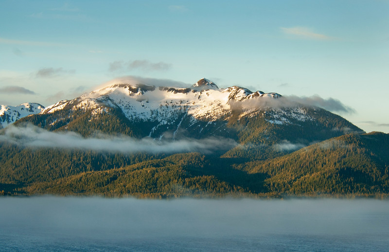 On the way into Juneau, Alaska- word of advice when cruising: Get a Balcony room its worth the extra money, as a Photographer you'll find it a great vantage point for so many different shots.