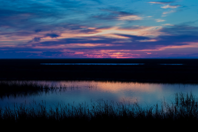 Sunset over the Colville River, North Slope, Alaska