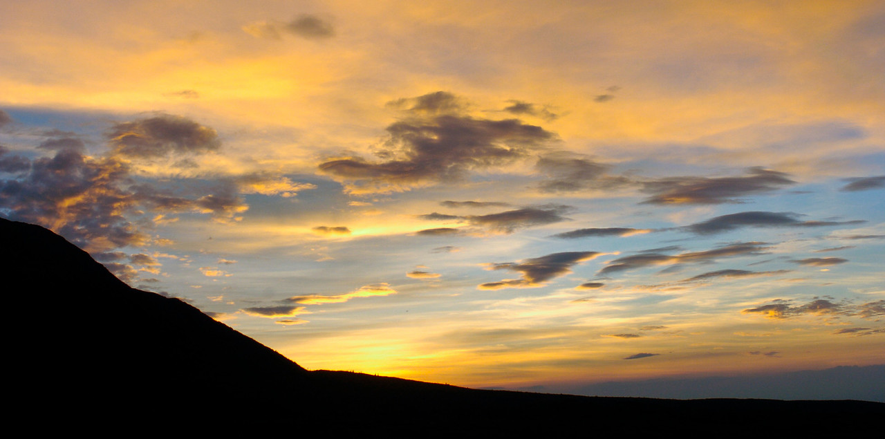Sunset on the edge of Donnelly Dome, 15 miles SSE of Delta Junction, Alaska