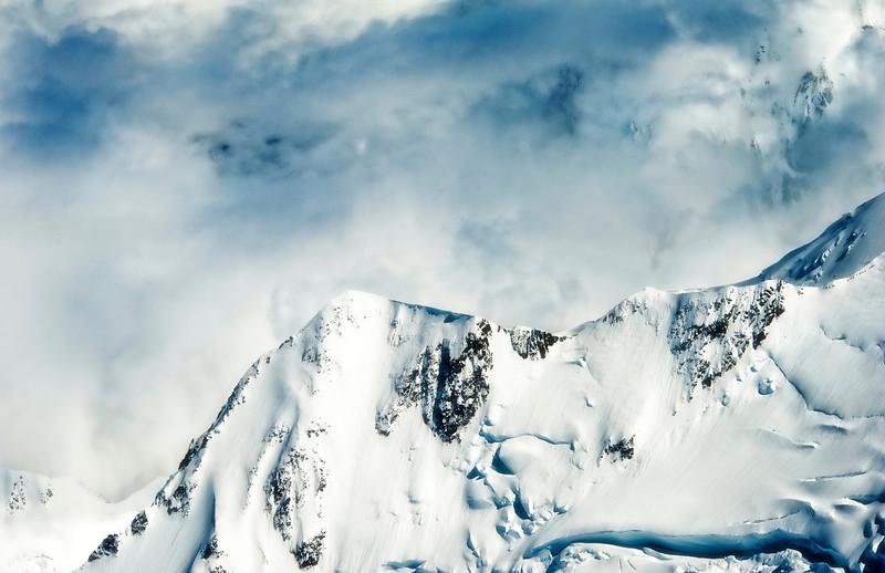 View of a lesser peak on Mt McKinley (Denali), Denali National Park AK