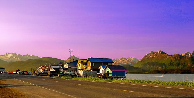 Alaska, Homer Spit, Early Morning Landscape, 阿拉斯加 风景