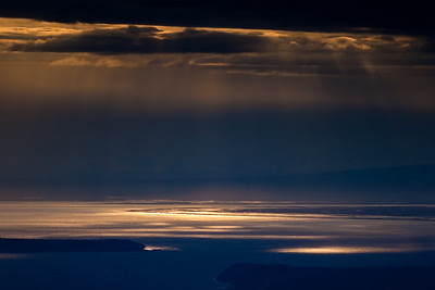 Sunset over Turnagain Arm, Alaska